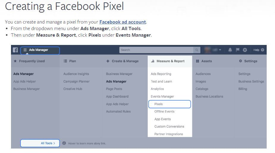 Facebook Pixel Ad Manager